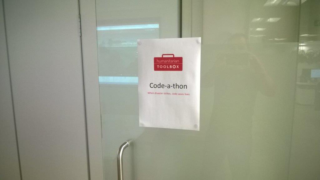 Humanitarian Toolbox Code-A-Thon Sign
