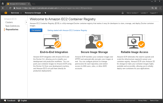 AWS ECR Getting Started 1