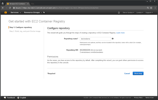 AWS ECR Getting Started 2