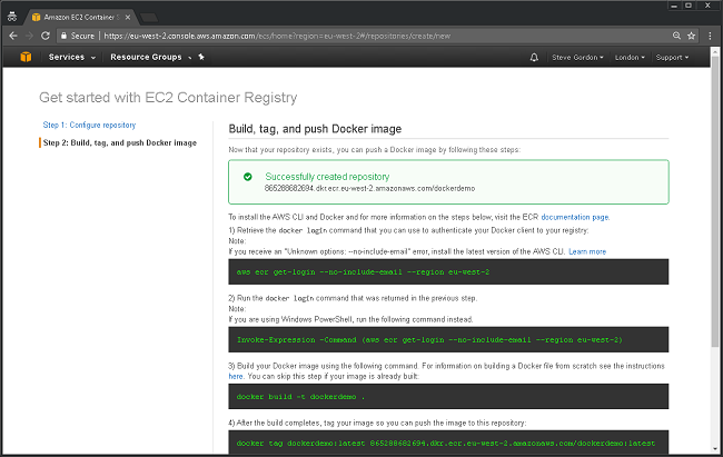 AWS ECR Getting Started 3