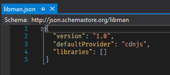 Default empty libman.json