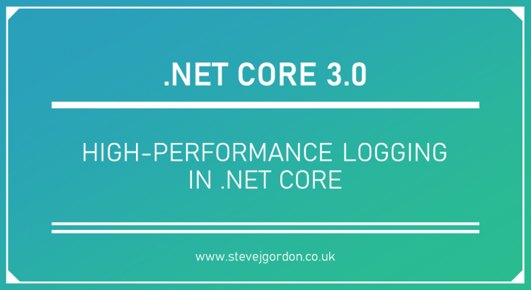 High-Performance Logging in .NET Core Header