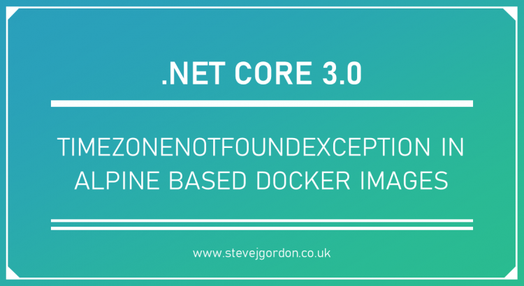 TimeZoneNotFoundException in Alpine Based Docker Images Header