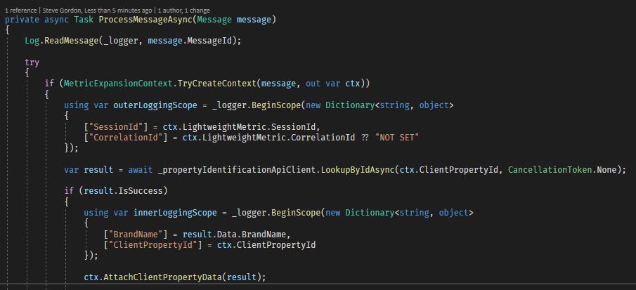 C# Using Declaration Example Code