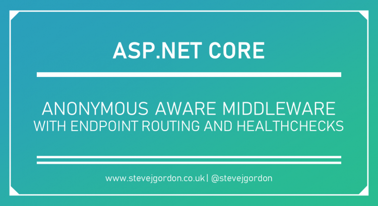 Anonymous Aware Middleware with Endpoint Routing and Healthchecks Header