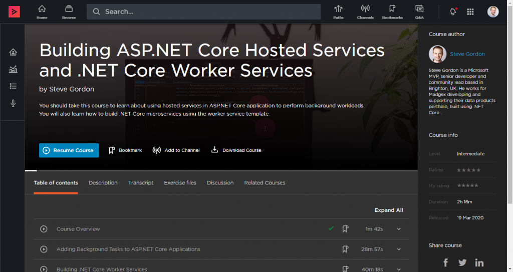 Building ASP.NET Core Hosted Services and .NET Core Worker Services Header