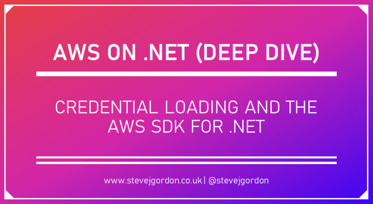 Credential Loading and the AWS SDK for .NET Header