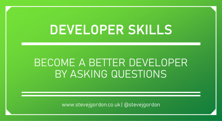Become a better developer by asking questions header